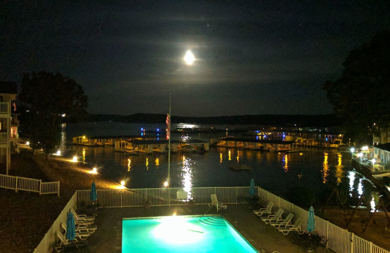 Pool view at Kapilana Resort.