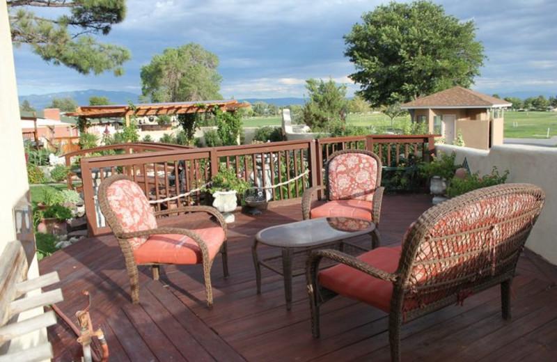 Garden patio at Inn at Paradise.
