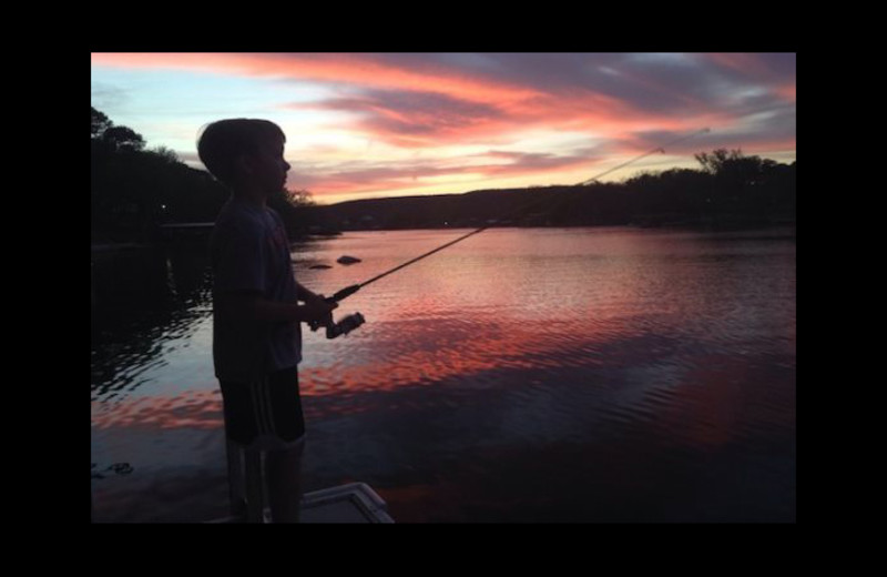 Fishing at Cool Water Cabin Rental - Lake LBJ.
