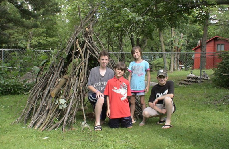 Outdoor skills learned at Birchcliff Resort.