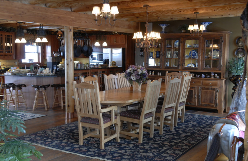 Dining area at Pine Lakes Lodge.
