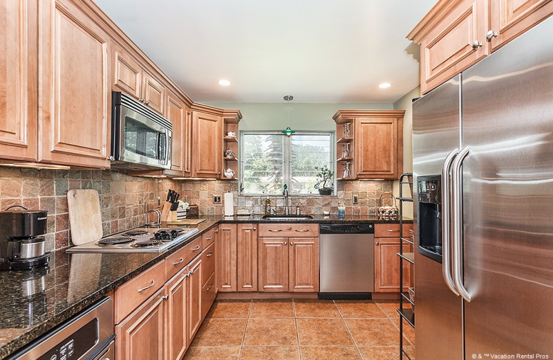 Rental kitchen at Vacation Rental Pros - St. Augustine.