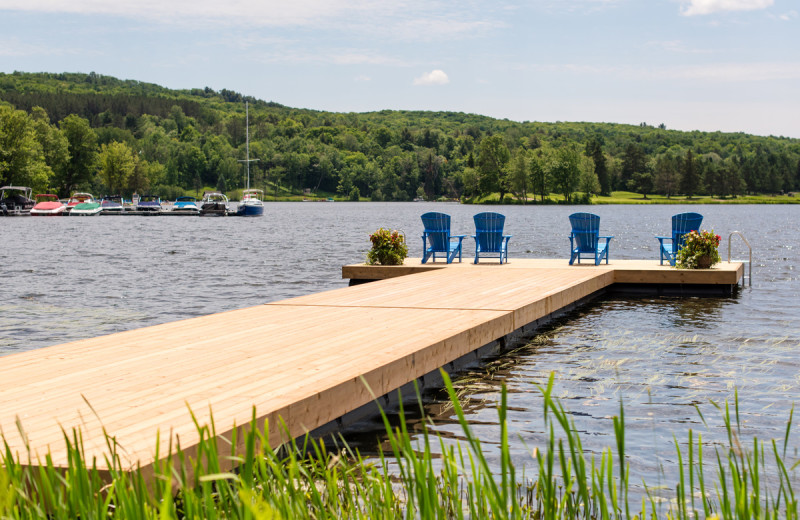 Dock at Deerhurst Resort.