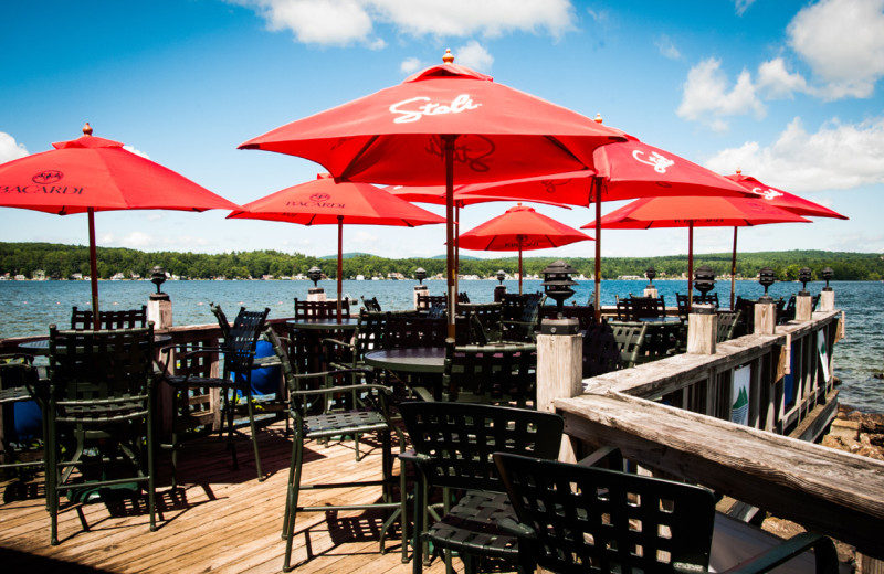 Patio at The Margate on Winnipesaukee.
