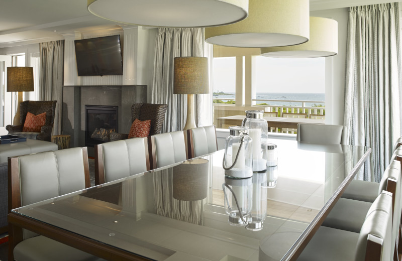 Guest dining room at Inn by the Sea.