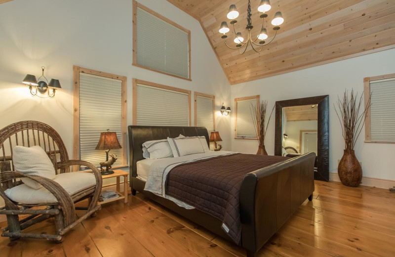 Rental bedroom at Muskoka District Rentals.