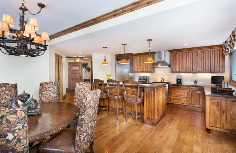 Guest kitchen at The Arrabelle at Vail Square, A RockResort.