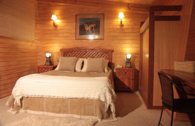 Guest room at Hotel Posada de Farellones.