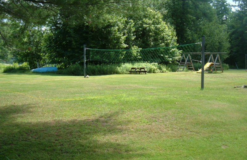 Volleyball court at Paquana Cottage Resort.