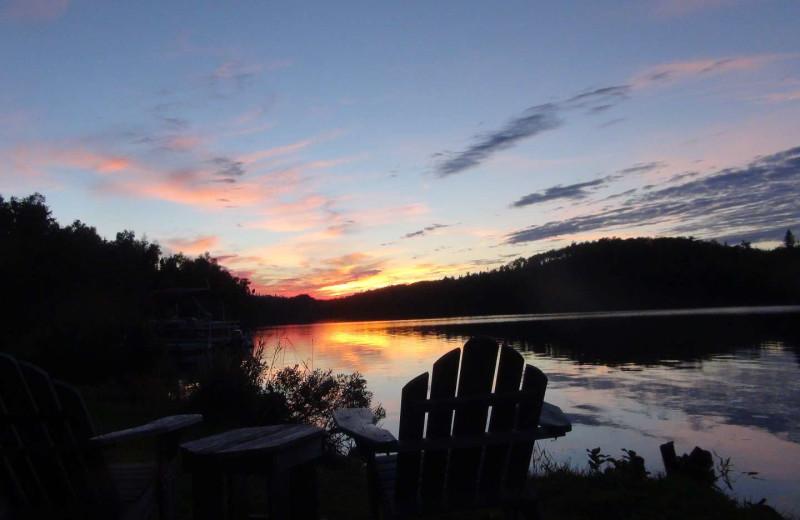 Lake view at Loon Lake Lodge.
