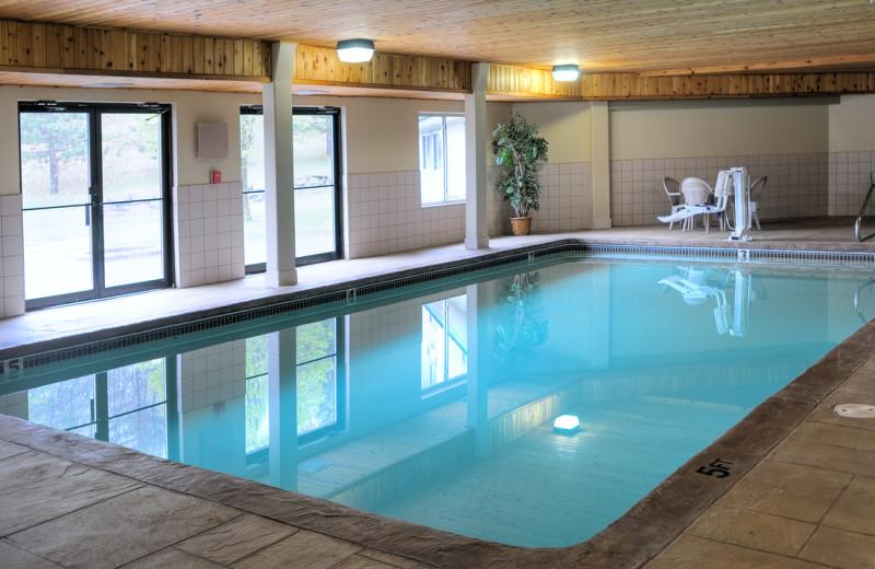 Indoor pool at Sunapee Lake Lodge.