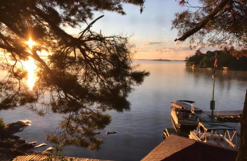 Lake view at Arrowhead Lodge & Resort.