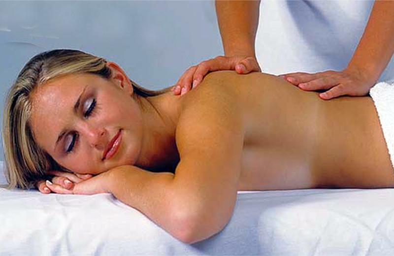 Back massage at Desert Hot Springs Spa Hotel.