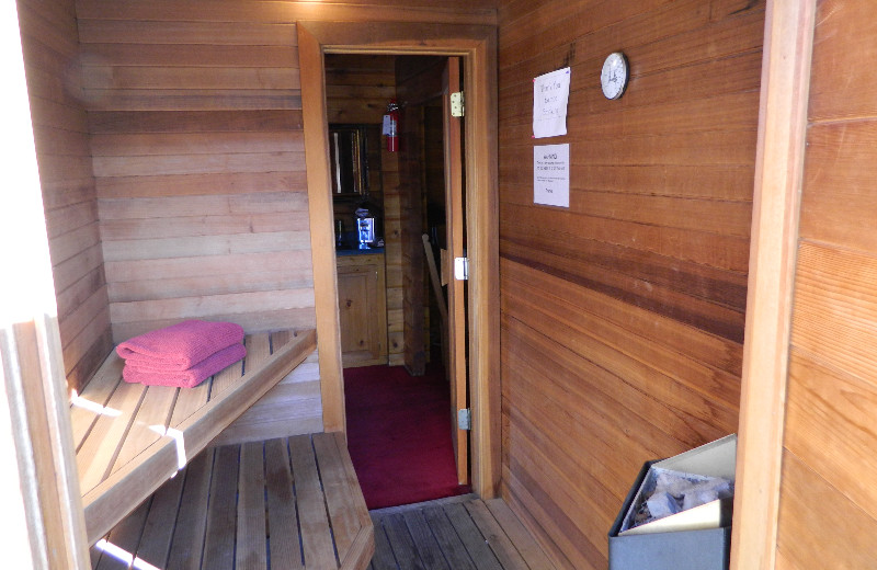 Sauna at Eldora Lodge.