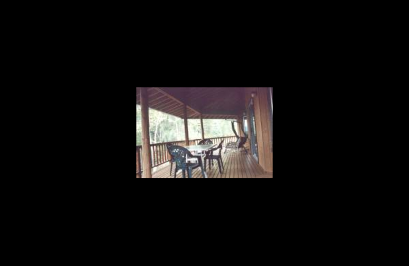 Deck view at Glacier Park Inn Bed & Breakfast.