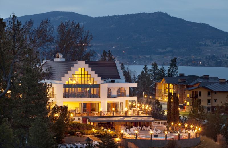 Exterior night view of Lake Okanagan Resort