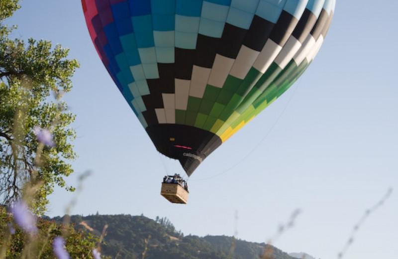 Hot air balloon at Cottage Grove Inn.
