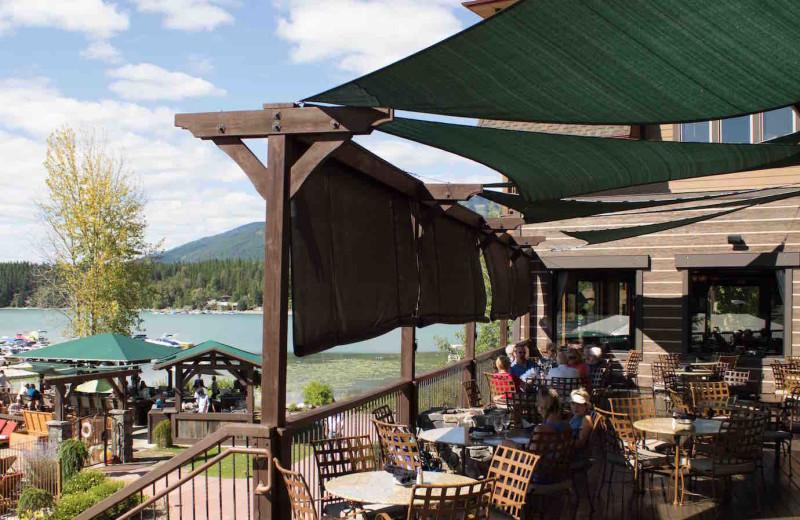 Patio at The Lodge at Whitefish Lake.