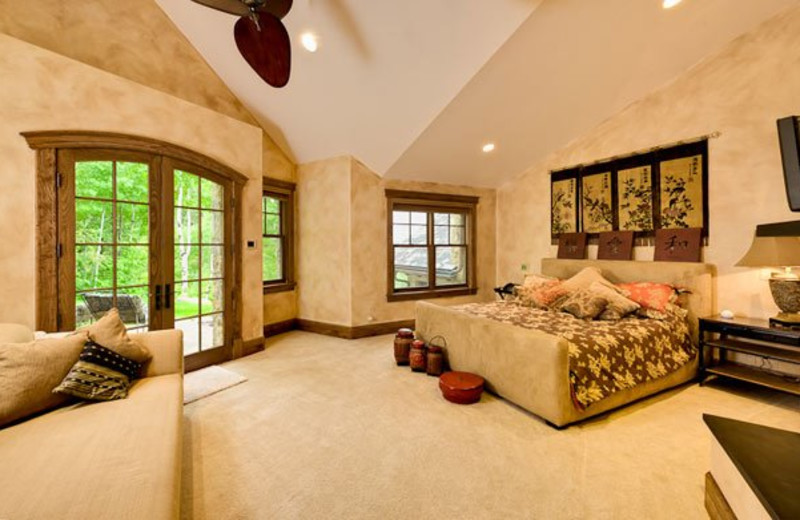 Rental Home Bedroom at Triumph Mountain Properties