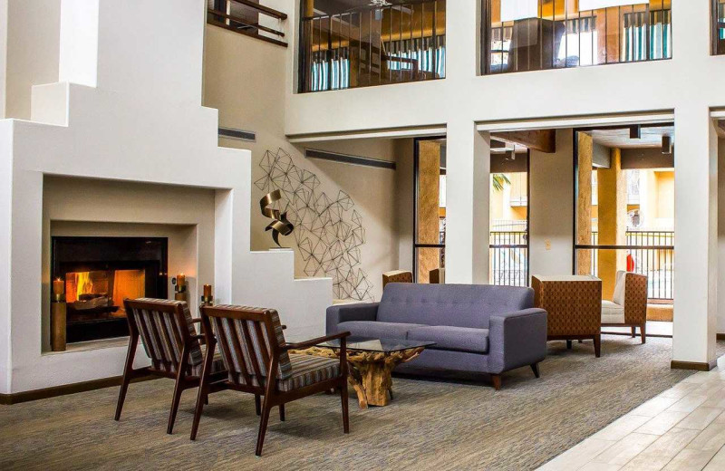 Lobby at Quality Inn & Suites Airport North.