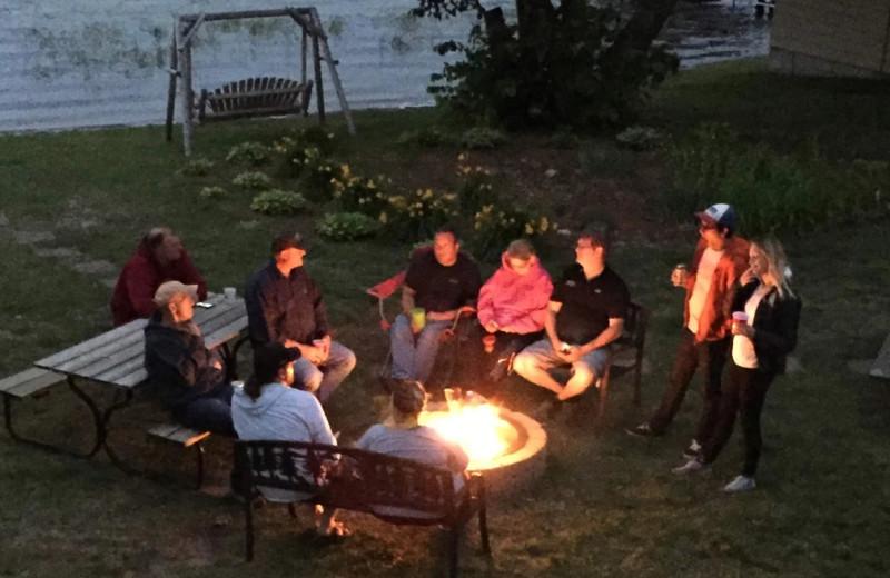 Bonfire at Betsy Ross Resort.