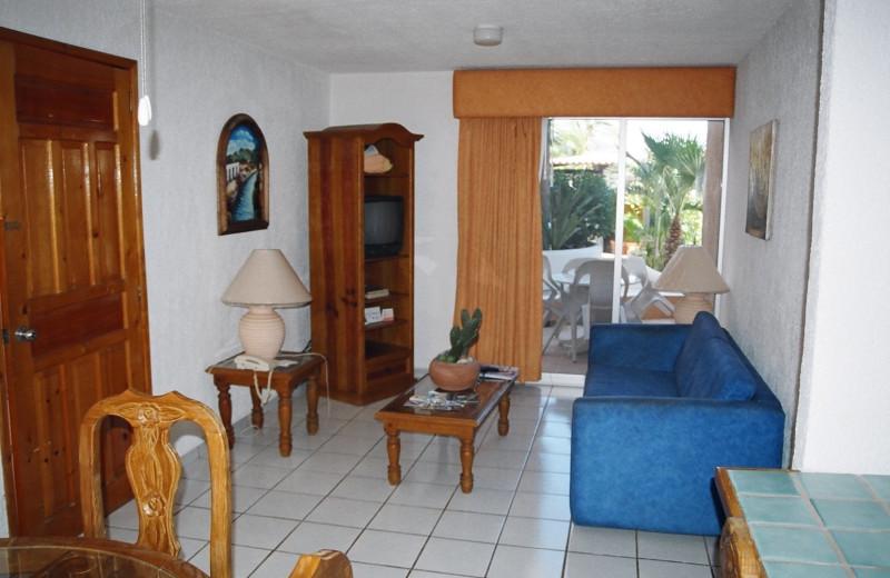 Guest room at Villa La Paloma.