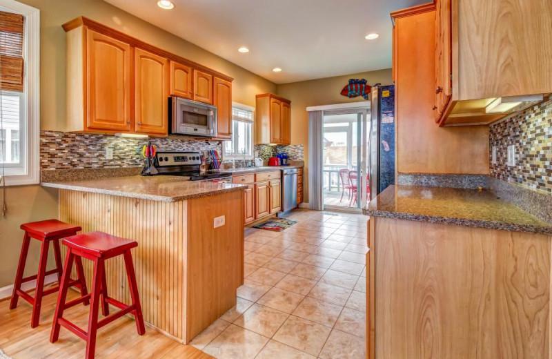 Rental kitchen at Vacasa Ocean City.