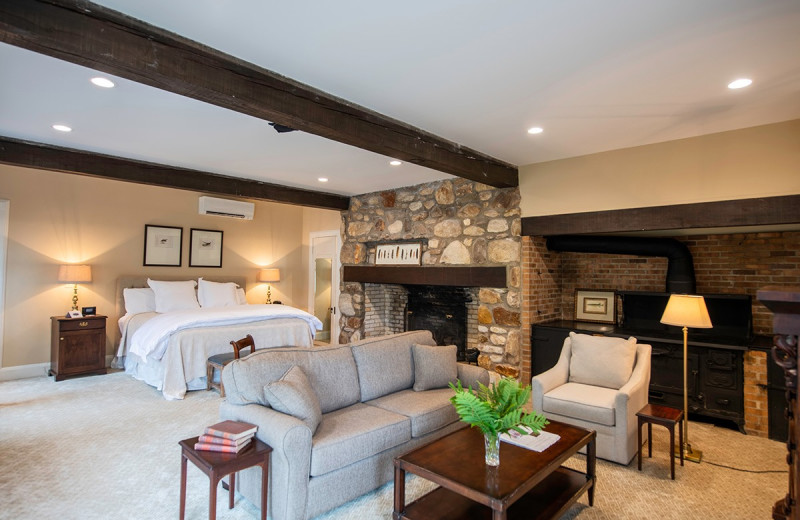 Guest room at The Greystone Inn.