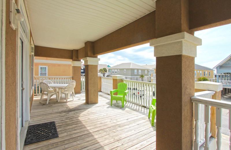 Rental deck at Reed Real Estate Vacation Rentals.
