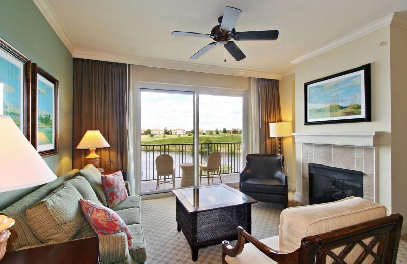 Guest room at Marina Inn at Grande Dunes.