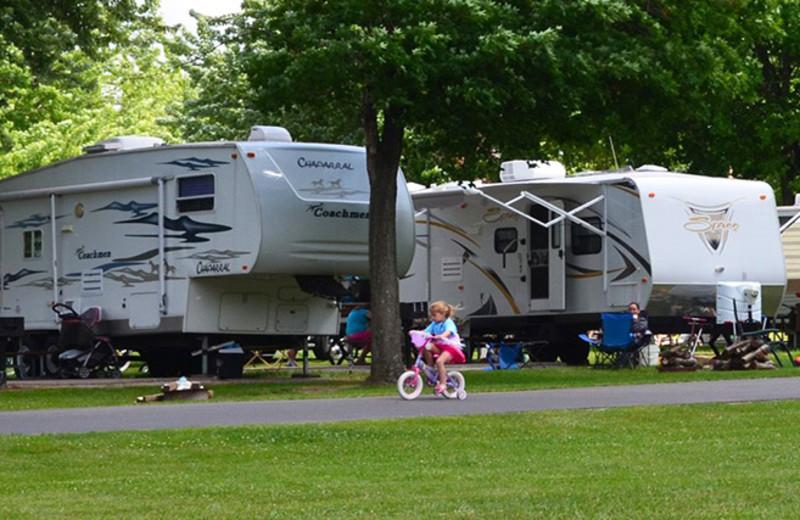 RV camp at Yogi Bear's Jellystone Park Gardiner.