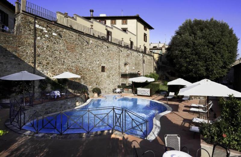 Outdoor pool at Palazzo Mannaioni.