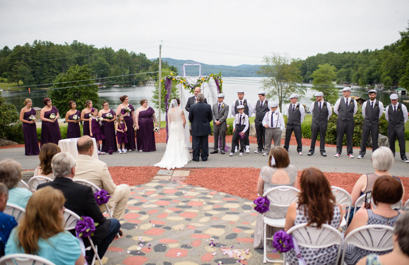 Wedding ceremony at Dunham's Bay Resort.