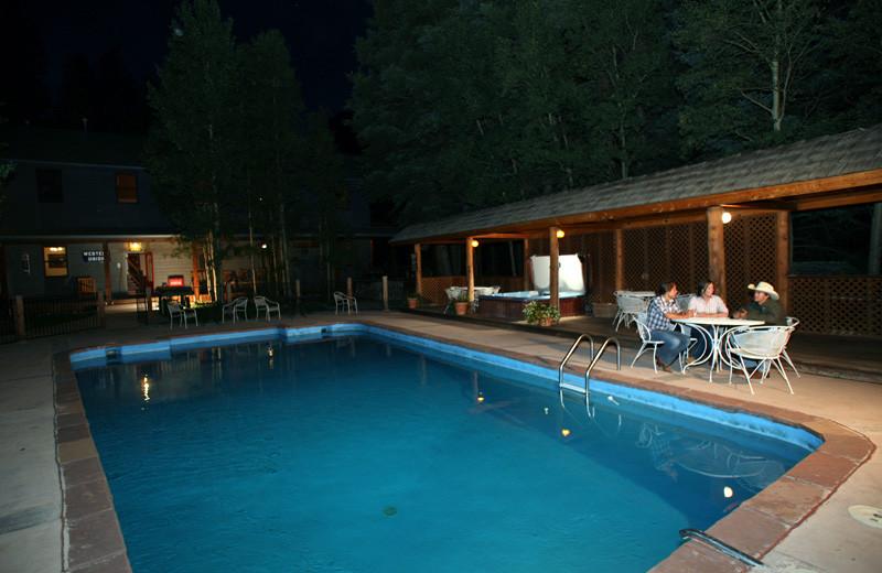 Outdoor pool at Tumbling River Ranch.