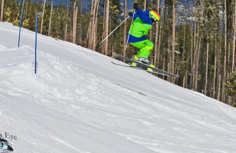 Blacktrail Mountain skiing at Ninepipes Lodge.