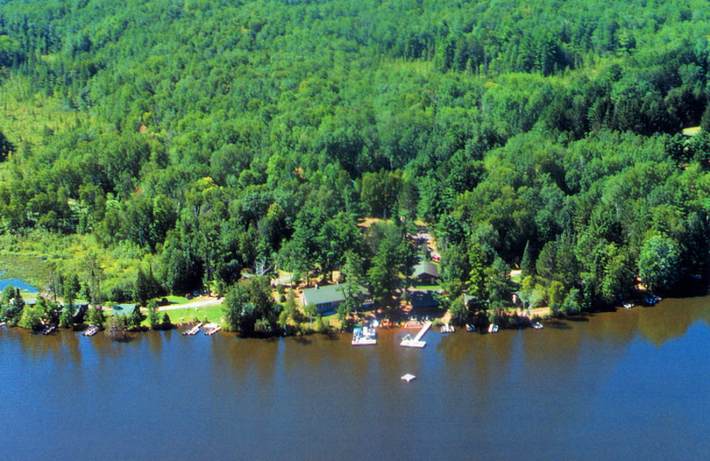 Aerial view at Northland Lodge.