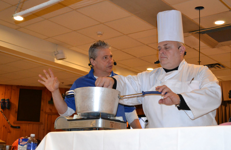 Cooking lessons at Woodloch Resort.