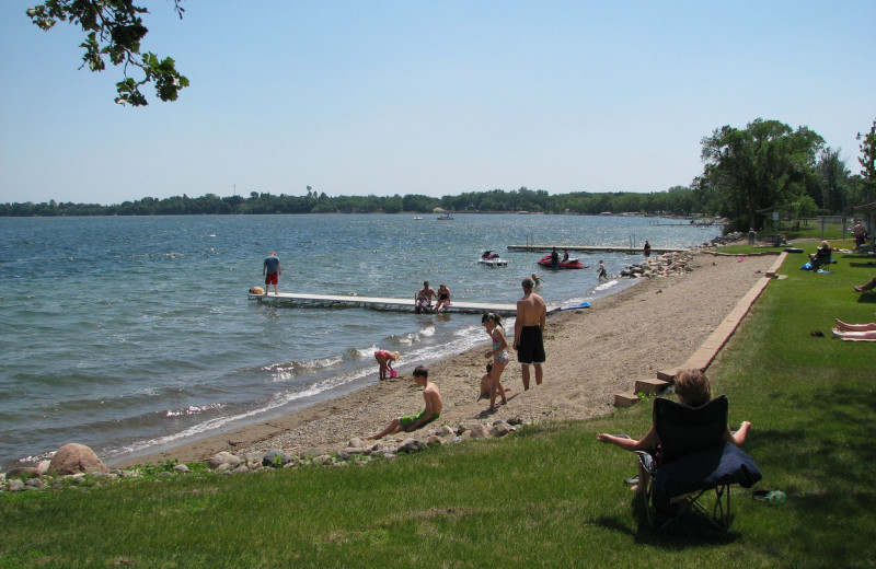 Beach at Battle Lake Inn and Suites.