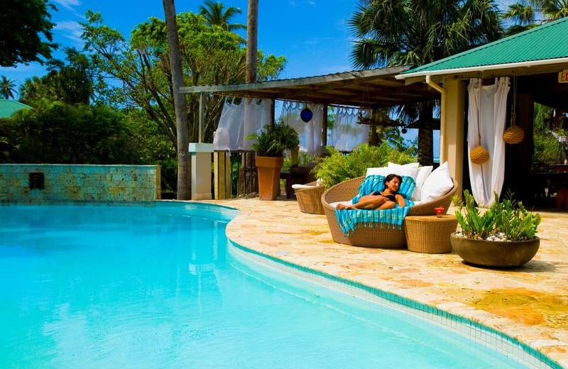 Outdoor pool at Villa Montana Beach Resort.
