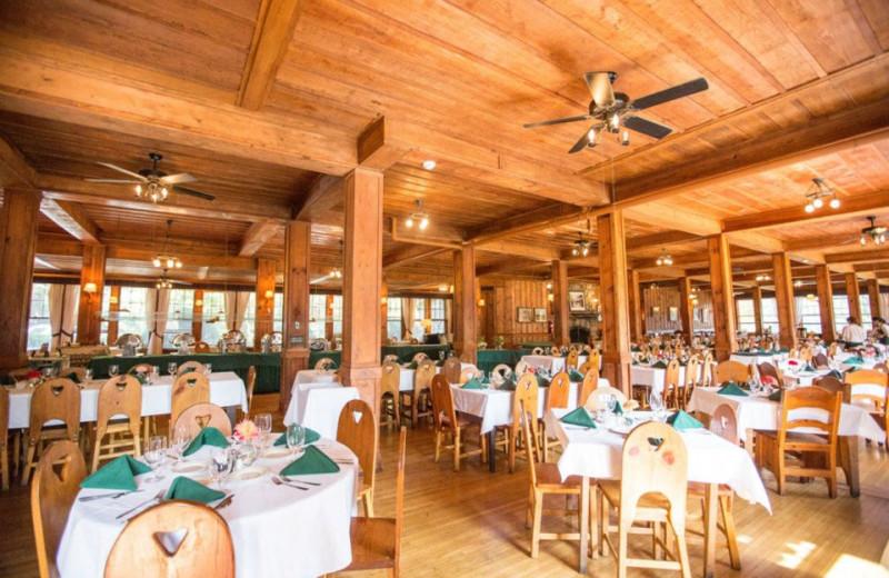Dining tables at High Hampton Inn.