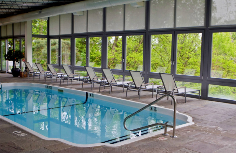 Indoor swimming pool at Buttermilk Falls Inn & Spa.