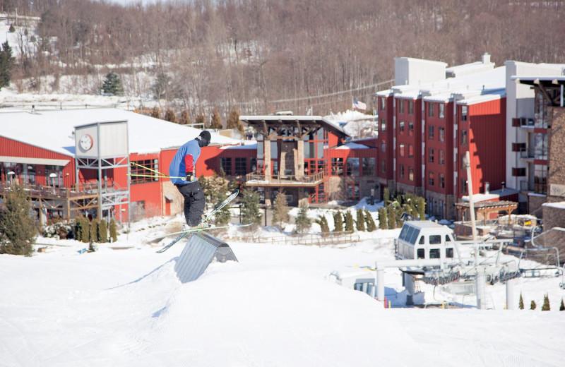 Skiing at Bear Creek Mountain Resort.