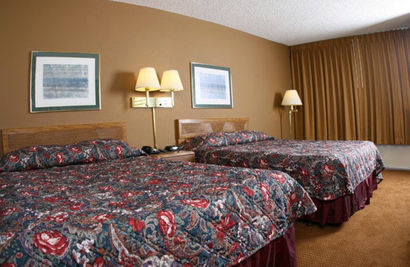 Guest room at Ontario Airport Inn.