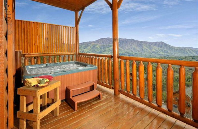 Rental deck at Smoky Mountains Vacation Cabins, LLC.