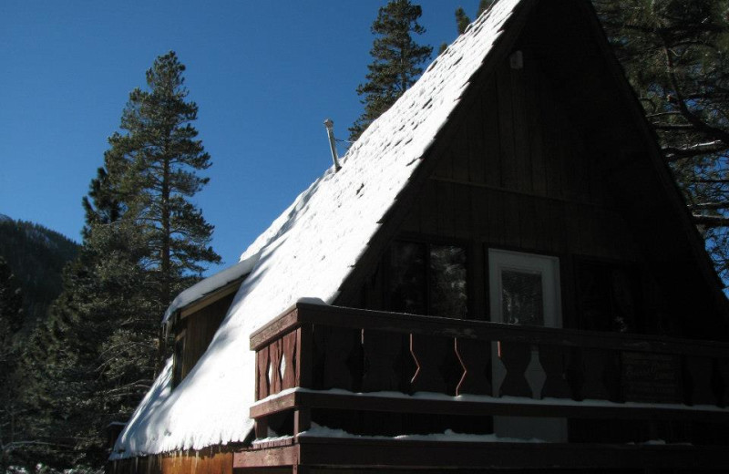 Chalet exterior at Reverse Creek Lodge.
