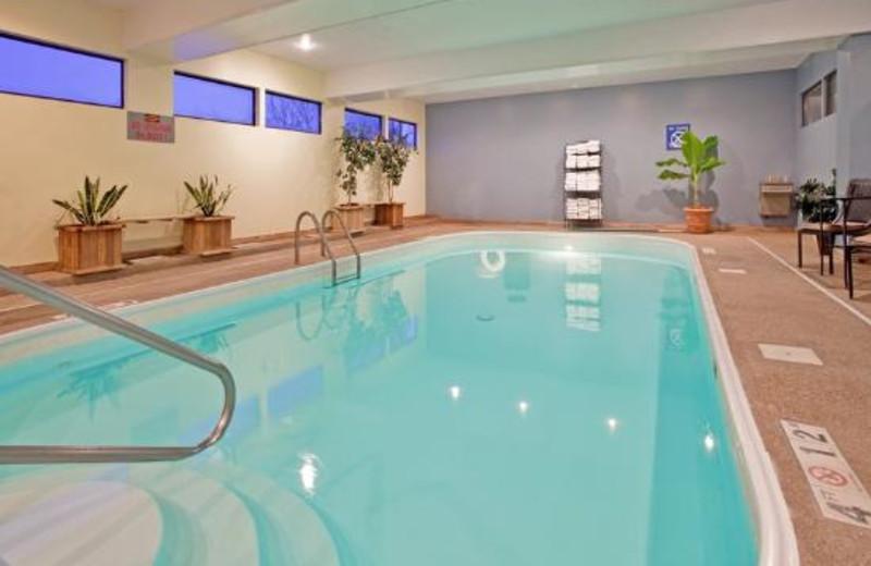 Indoor pool at Holiday Inn Express Osage Beach.