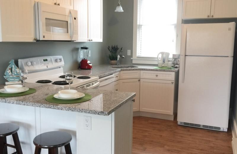 Cottage kitchen at Sandbanks Summer Village Cottage Resort.