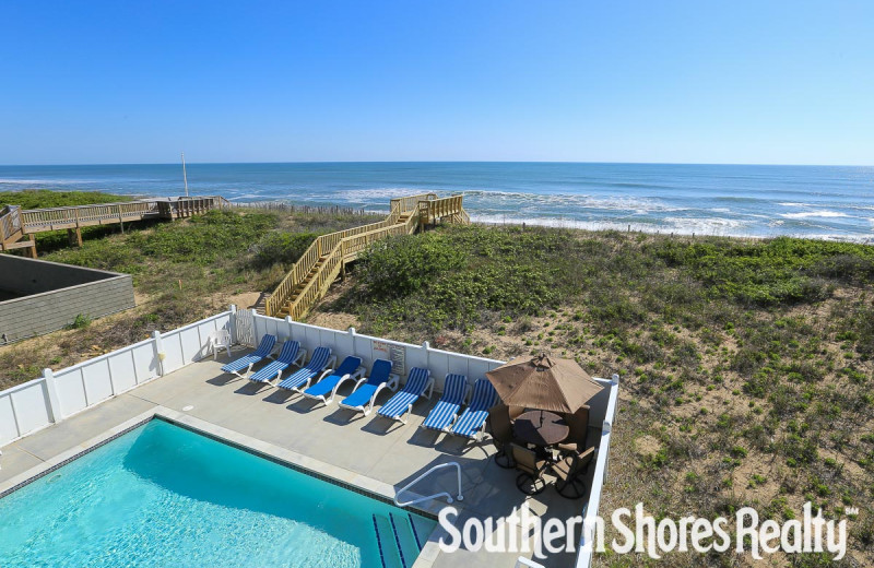 Rental pool at Southern Shores Realty.