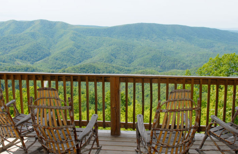 Deck view at House Mountain Inn.