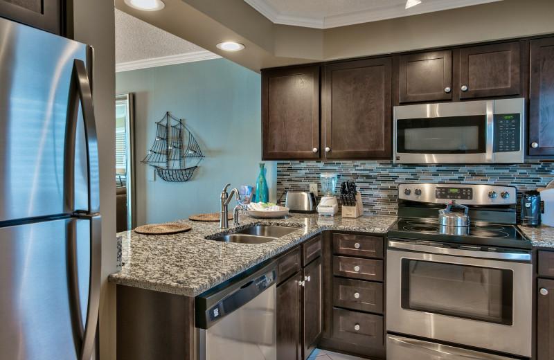 Guest kitchen at The Islander in Destin.